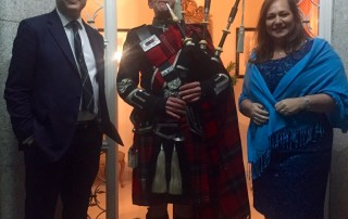Bagpiper for the British Ambassador to Spain