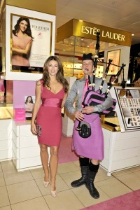 Breast Cancer Awareness event, Elizabeth Hurley meets Roddy