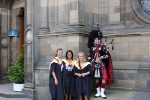 Playing at Edinburgh University Graduations.