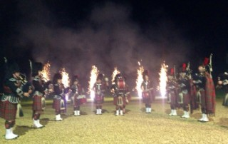 Pipe Band beat retreat castle edinburgh scotland