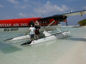 One Private island in the Maldives, one cruise ship, one sea plane, one haggis, one Roddythepiper.